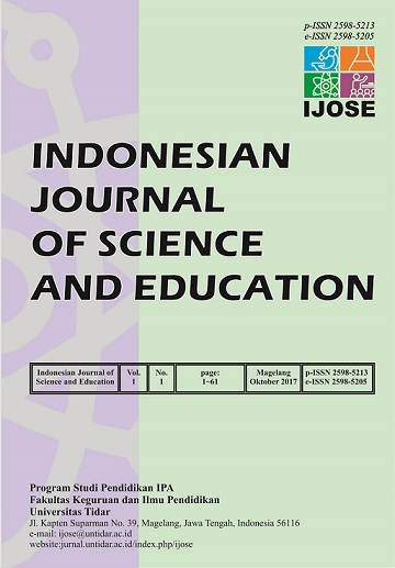 Indonesian Journal of Science and Education